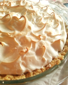 lemon meringue pie closeup